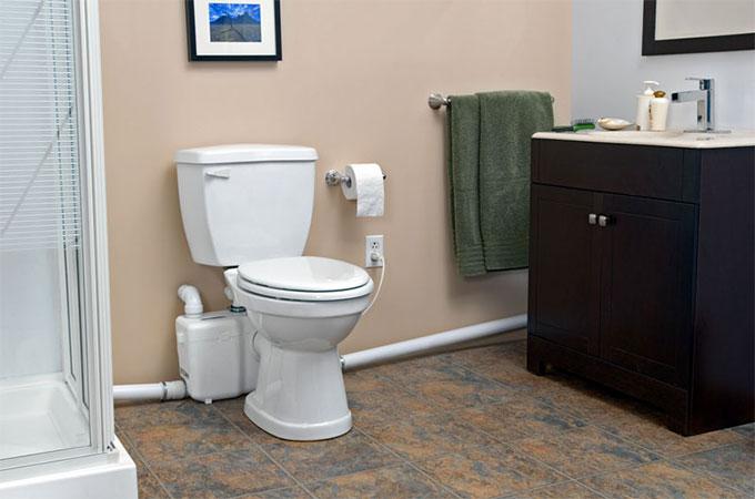 évacuation WC