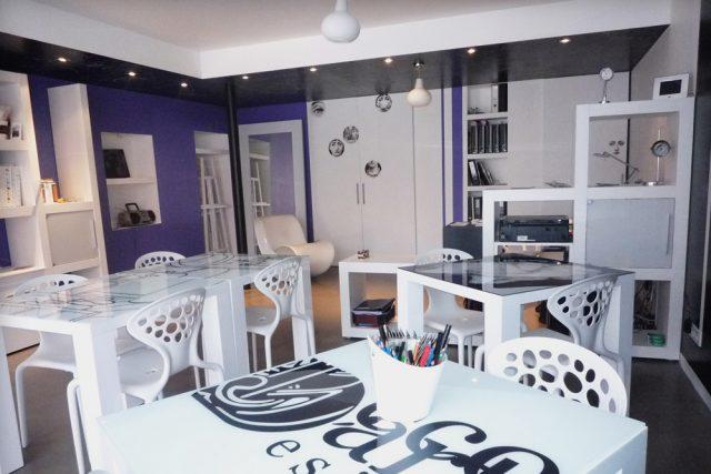salon design et convivial